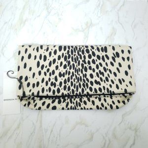 NWOT Emerson Fry Signature Leopard Print Fold Over